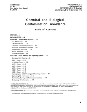 Chemical and Biological Contamination Avoidance