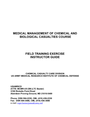 Medical Management of Chemical and Biological Casualties