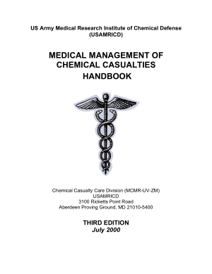 Medical Management of Chemical Casualties Handbook