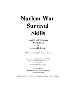Nuclear War Survival Skills – Cresson Kearny