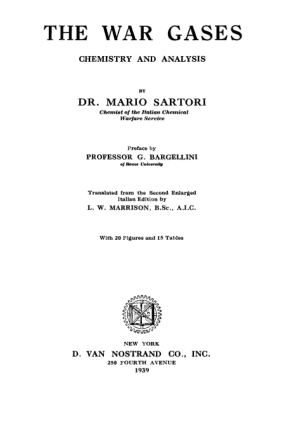 The War Gases – Chemistry and Analysis – Sartori
