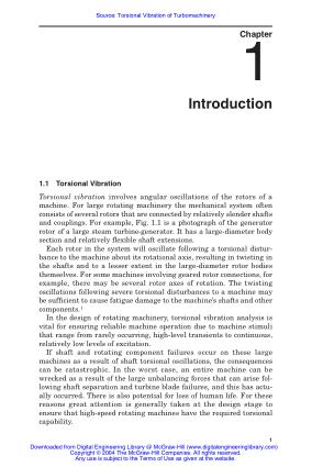 Torsional Vibration of Turbomachinery Duncan Walker Duncan Walker