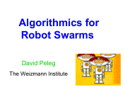 algorithmics for robot swarms david peleg