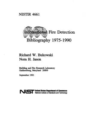 Fire Detection Bibliography 1975-1990 Richard W. Bukowski