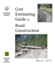 Cost Estimating Guide for Road Construction