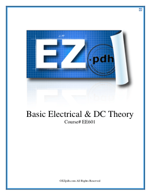 601 Basic Electrical and DC Theory