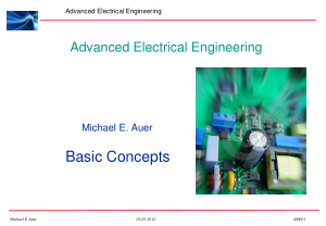Advanced Electrical Engineering Michael E. Auer Basic Concepts