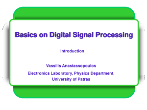 Basics on Digital Signal Processing