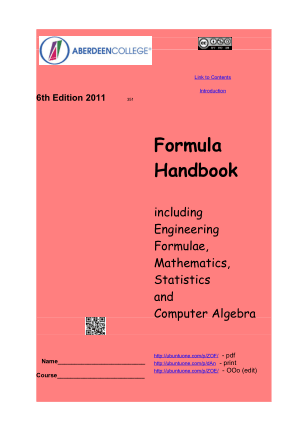 engineering Formula and Handbook For All Branches 6th Edition