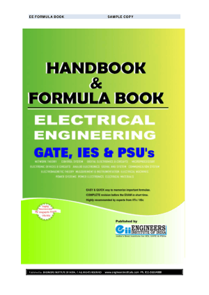 HANDBOOK and FORMULA BOOK for GATE IES JTO PSU and SSC ELECTRICAL ENGINEERING