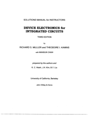 solution manual device electronics for integrated circuits 3rd edition