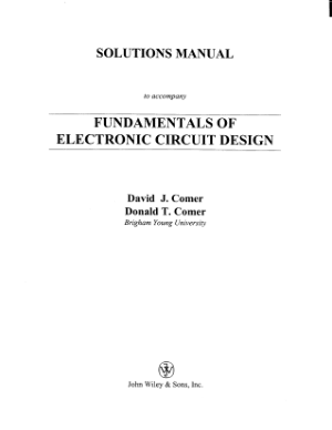 solution manual to fundamentals of electronic circuit design
