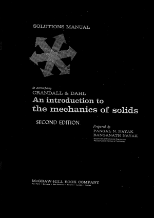An Introduction to the Mechanics of Solids 2nd dition Solution Manual