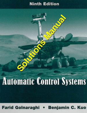 Automatic Control Systems 9th Edition solutions manual