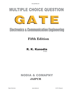 Electronics and Communication Engineering MCQs Gate Fifth Edition