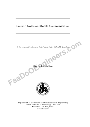 Lecture Notes on Mobile Communication