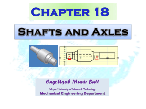 Shaft and Axles