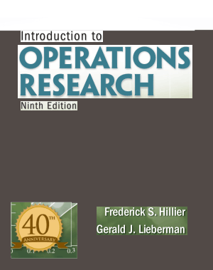 introduction to operations research fredericks hillier 9th edition