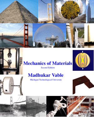 Mechanics of Materials Second Edition Madhukar Vable