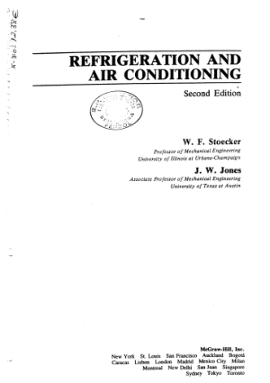 Refrigeration Air Conditioning 2nd Edition