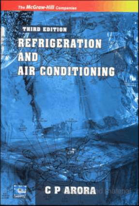 refrigeration and air conditioning c p arora third edtition