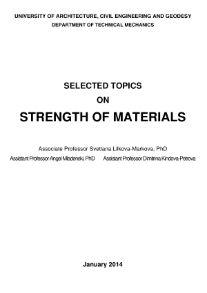 SELECTED TOPICS ON STRENGTH OF MATERIALS