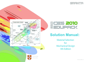 Solution Manual Material Selection for Mechanical Design 4th Edition