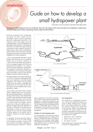 Guide on how to develop small hydropower plant