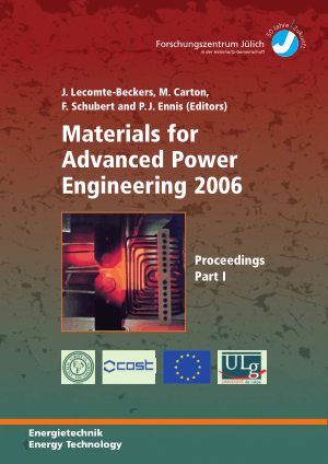 Materials for Advanced Power Engineering 2006 Proceedings Part-I