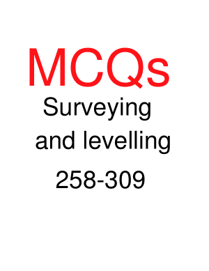 Surveying and levelling 258-309