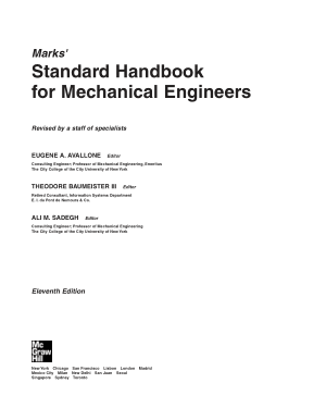 Marks Standard Handbook for Mechanical Engineers 11th Edition_Part1
