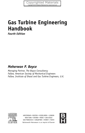 Gas Turbine Engineering Handbook Fourth Edition Meherwan P. Boyce
