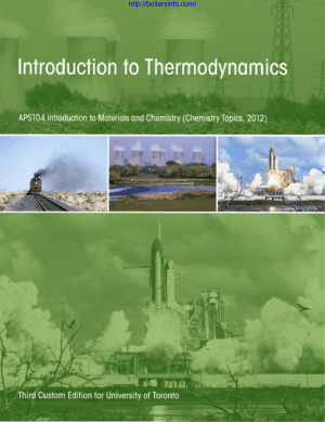 Introduction to Thermodynamics APS104 Introduction to Materials and Chemistry_Part1