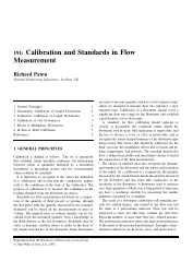 Calibration and Standards in Flow Measurement Richard Paton