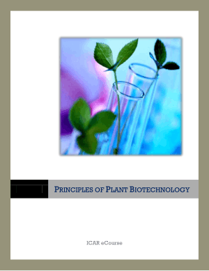 Principles of Plant Biotechnology