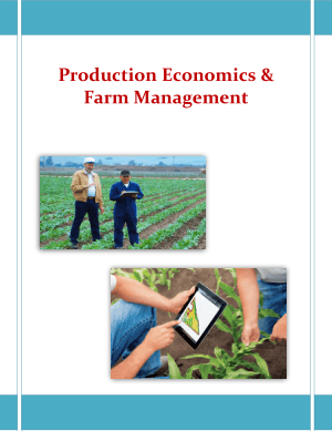 Production Economics and Farm Management