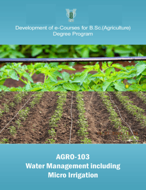 Water Management including Micro-Irrigation