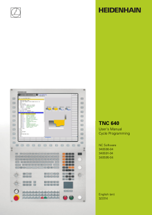 TNC 640 user manual Cycle Programming