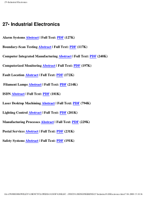 Encyclopedia of Electrical and Electronics Engineering 27.Industrial Electronics
