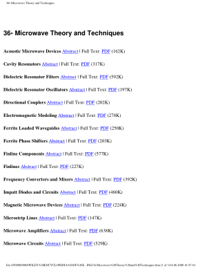 Encyclopedia of Electrical and Electronics Engineering 36.Microwave Theory and Techniques