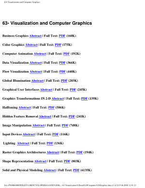 Encyclopedia of Electrical and Electronics Engineering 63.Visualization and Computer Graphics