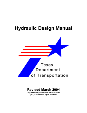 Hydraulic Design Manual
