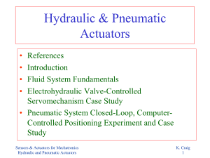 hydraulic and pneumatic actuators