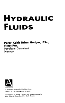 HYDRAULIC FLUIDS Peter Keith Brian Hodges