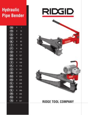 Hydraulic Pipe Bender Manual