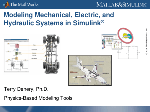 Modeling Mechanical Electrical And Hydraulic Systems in Simulink