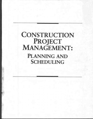 Construction Project Management Planning and Scheduling