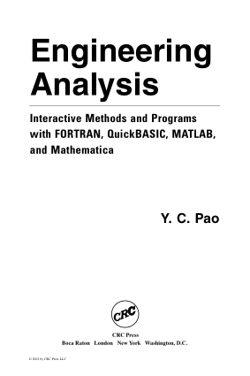 Engineering Analysis Book by Y. C. Pao and Yen-Ching Pao