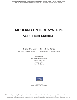 Modern Control Systems 11th Edition Richard C. Dorf Robert H. Bishop