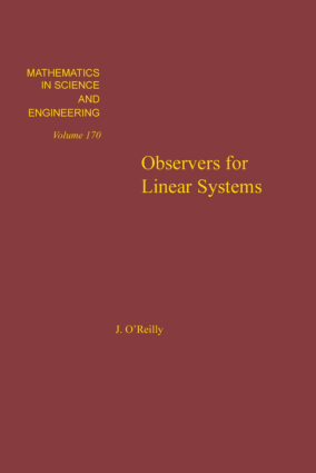 Observers for Linear Systems vol 170 J. OReilly Eds